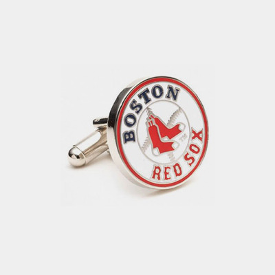 Stainless Steel Red Sox Cufflinks