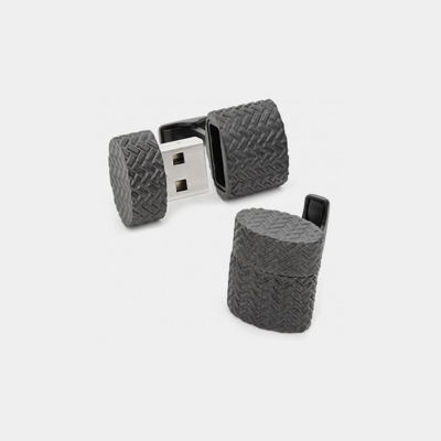 Iron Black Woven 4GB Cufflinks