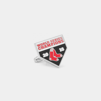 Stainless Steel Red Sox Championship Cufflinks