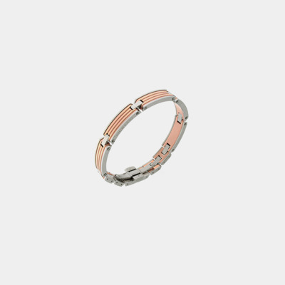 Rose PVD Stainless Steel Wide Bracelet