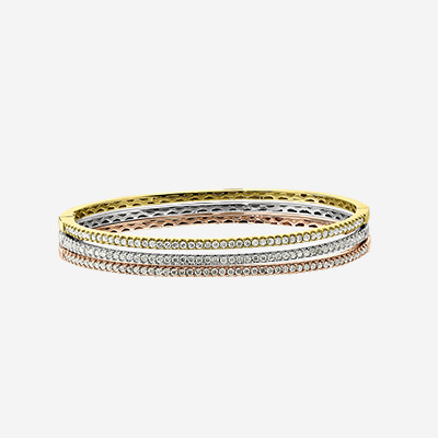 18kt Prong Set Diamond Bangle