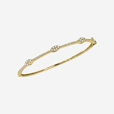 14kt Diamond Pave Bangle Bracelet