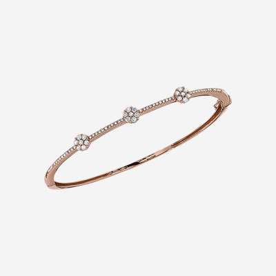 14kt Diamond Pave Bangle Bracelet