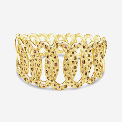 18kt Brown Diamond Cuff Bracelet