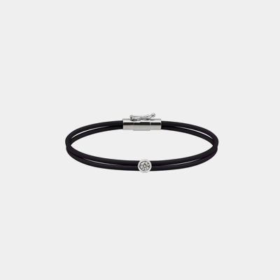Black Bracelet With Diamond Setting