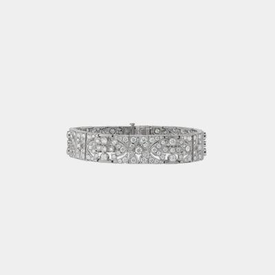 Millgrained Filigree Diamond Bracelet