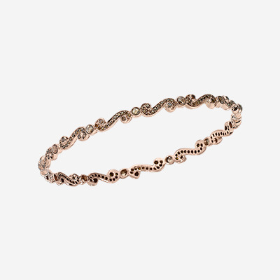 14kt Brown Diamond Scroll Bracelet