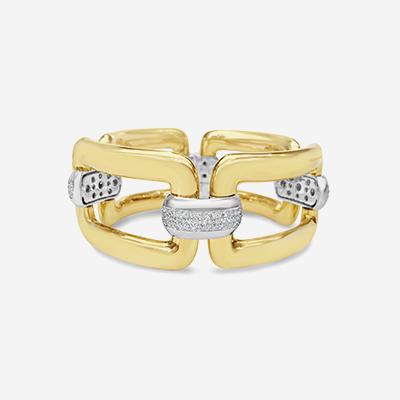 18kt Square Diamond Link Bracelet