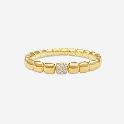 18kt Pave Diamond Stretch Bracelet