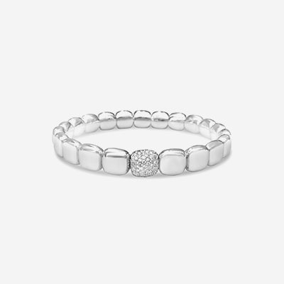 18kt Pave Diamond Stretch Bracelet
