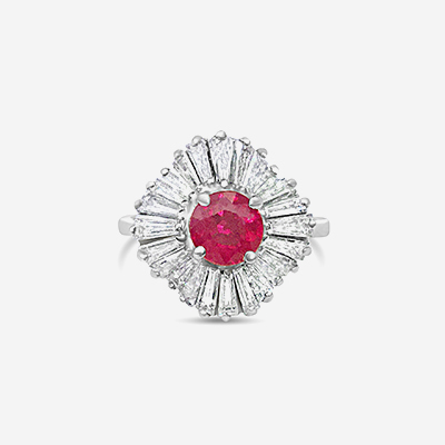 18kt Ruby and Diamond Ballerina Ring