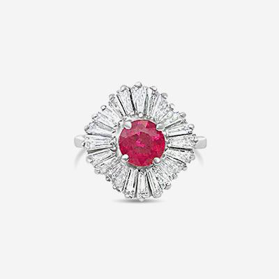 18kt Ruby and Diamond Ballerina Ring