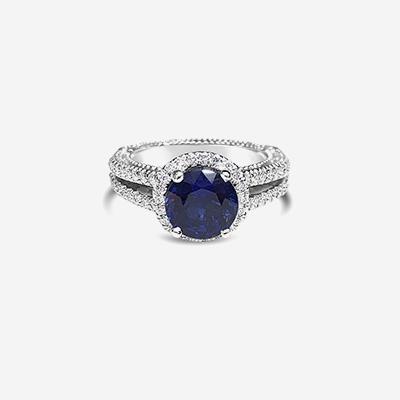 Platinum Verragio Sapphire Engagment Ring