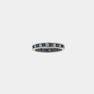 Platinum Diamond & Sapphire Wedding Ring