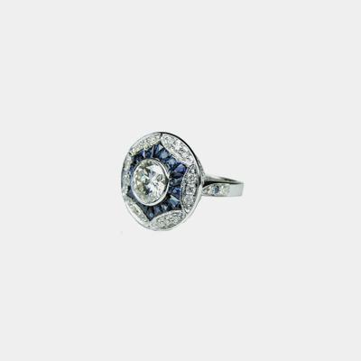 Platinum Antique Style Engagement Ring