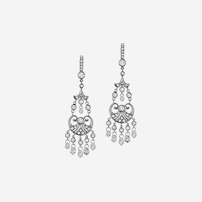 Platinum Chandelier Diamond Earrings