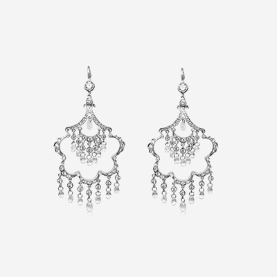 18kt Briolette Diamond Chandelier Earrings