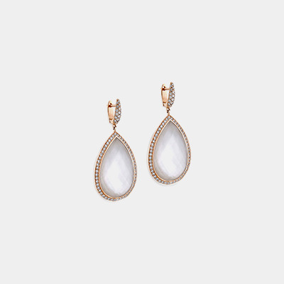 Pear Shape Quartz Earrings
