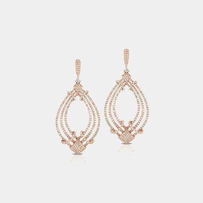 18kt Diamond Dangle Earrings