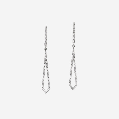 14kt Open Diamond Drop Earrings