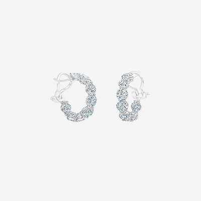 18kt Diamond Inside Out Hoops