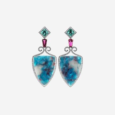 18kt Paraiba Tourmaline Drop Earrings