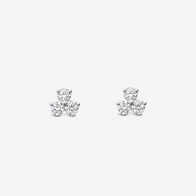 Platinum Tiffany Diamond Stud Earrings
