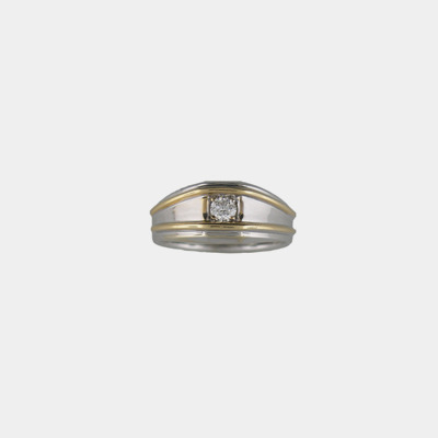 14kt Two Tone Diamond Ring