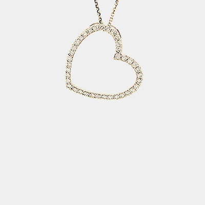 Open Diamond Heart Pendant