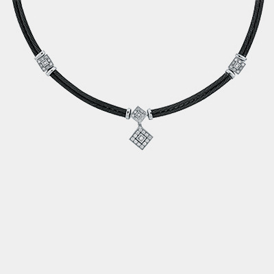Black Cable Diamond Necklace