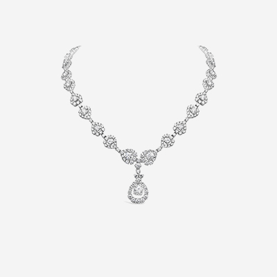 18kt Diamond Drop Necklace