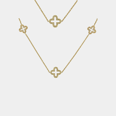 18kt Mikado Clove style Necklace