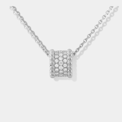 Van Cleef & Arpels Perlee Diamond Necklace in 18kt White Gold