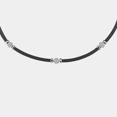 """""""Noir"""" Black Stainless Necklace"""