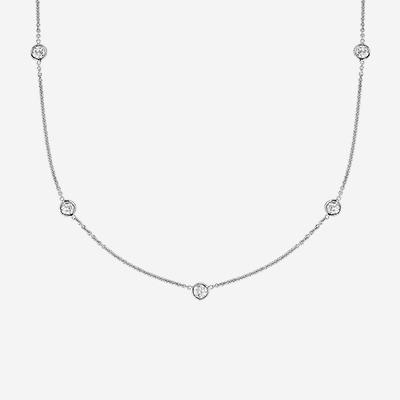 14kt Diamonds-By-The-Yard Necklace