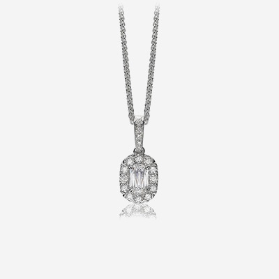 18kt Diamond Halo Pendant