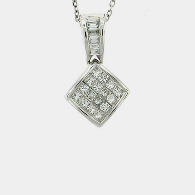 Princess Cut Diamond Pendant