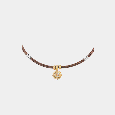 Brown Cable Diamond Necklace