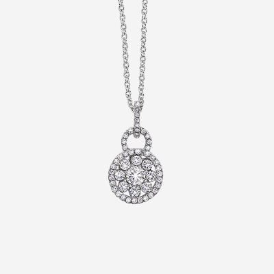 18kt Diamond Cluster Pendant