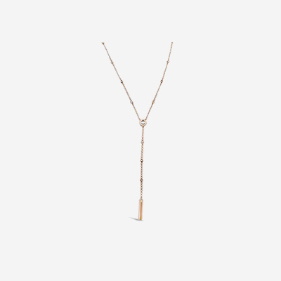 14kt Lariat Diamond By The Yard Necklace