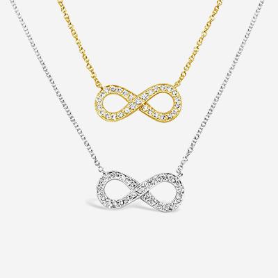 14kt Diamond Infinity Pendant