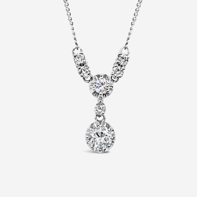 14kt Diamond Dangle Pendant
