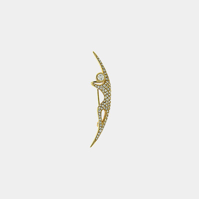 18kt Yellow Gold Dancing Girl Diamond Pin