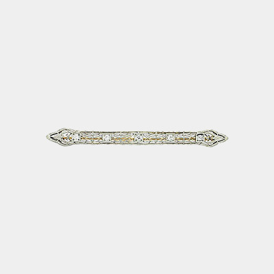 14kt Diamond Bar Pin