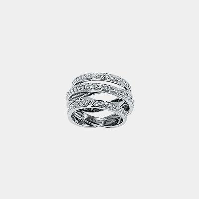 Triple Diamond Band Ring