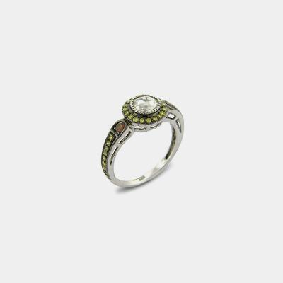 18K Antique Inspired Rose Cut Diamond Engagement Ring