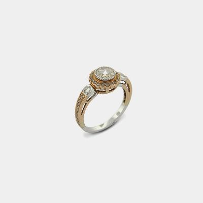 14K Champagne Rose Cut Diamond Ring