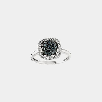 Black Pave Diamond Ring