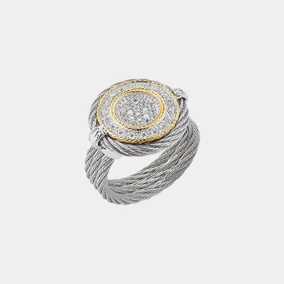 Diamond Circle Cable Ring