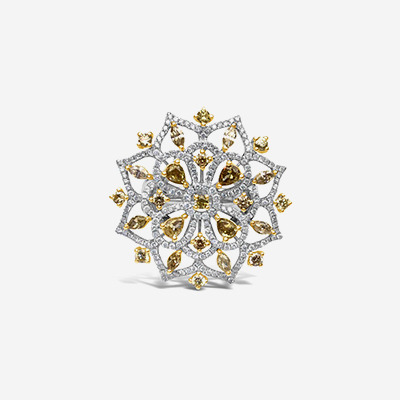18kt Diamond Sunburst Ring